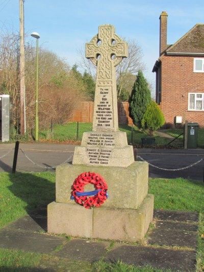 War Memorial Wilstone