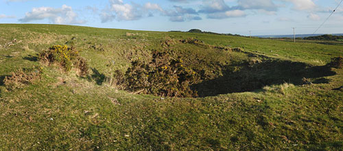 Bomb Crater Crownhill Down