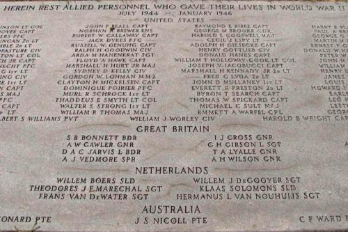 Plaque Allied Servicemen