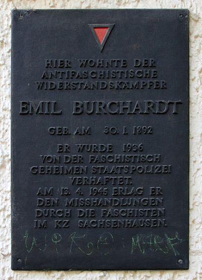 Plaquette Emil Burchardt