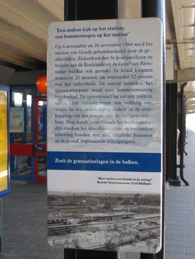 Shell damage NS-railway station Gouda