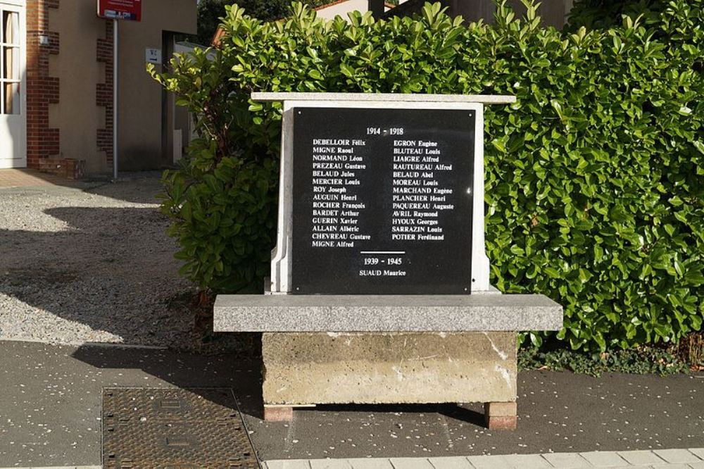 War Memorial Tallud-Sainte-Gemme