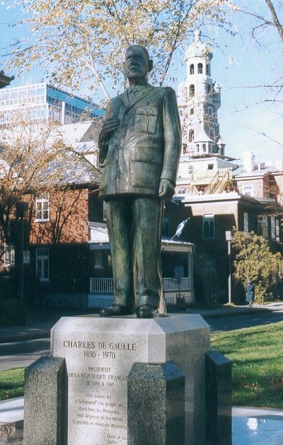 Statue Charles de Gaulle Quebec