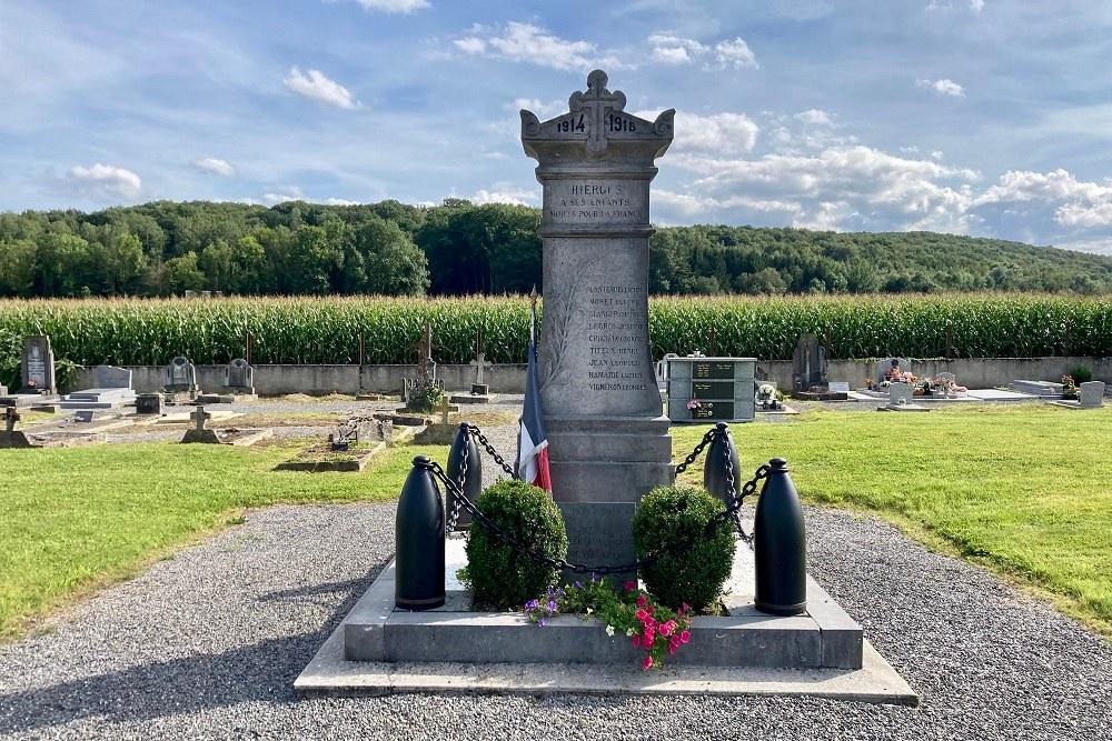 Monument Oorlogsslachtoffers Hierges