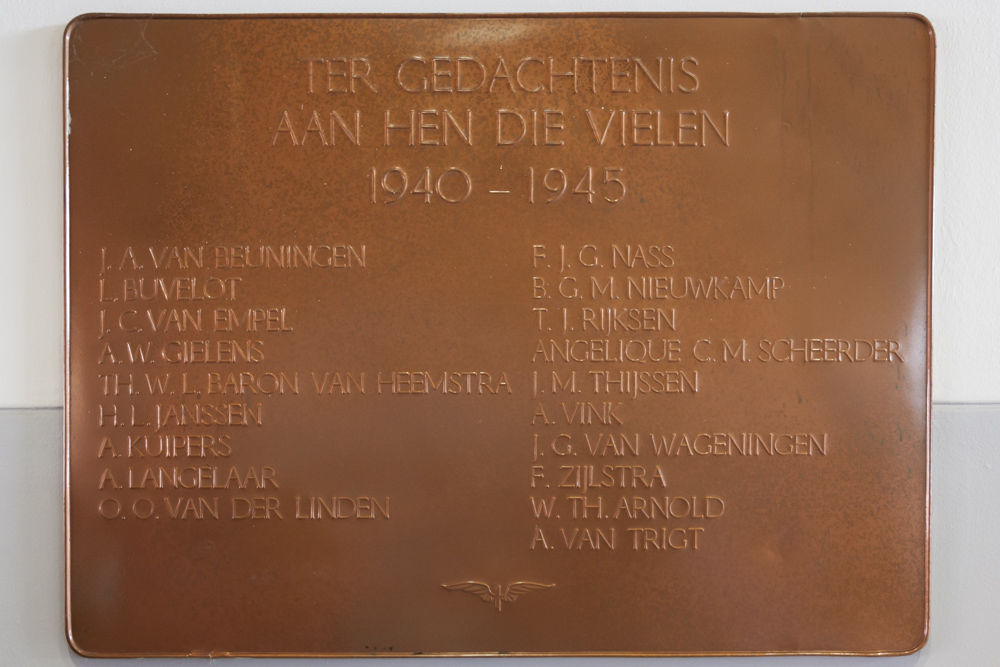 Plaquette Omgekomen NS-medewerkers Nijmegen