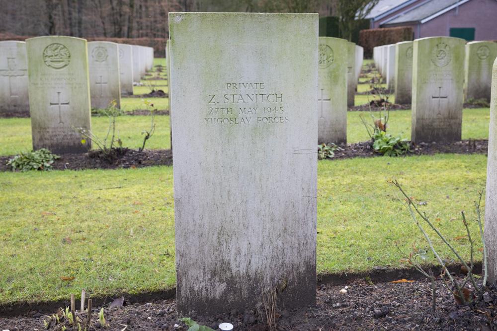Joegoslavisch Oorlogsgraf Reichswald Forest Cemetery
