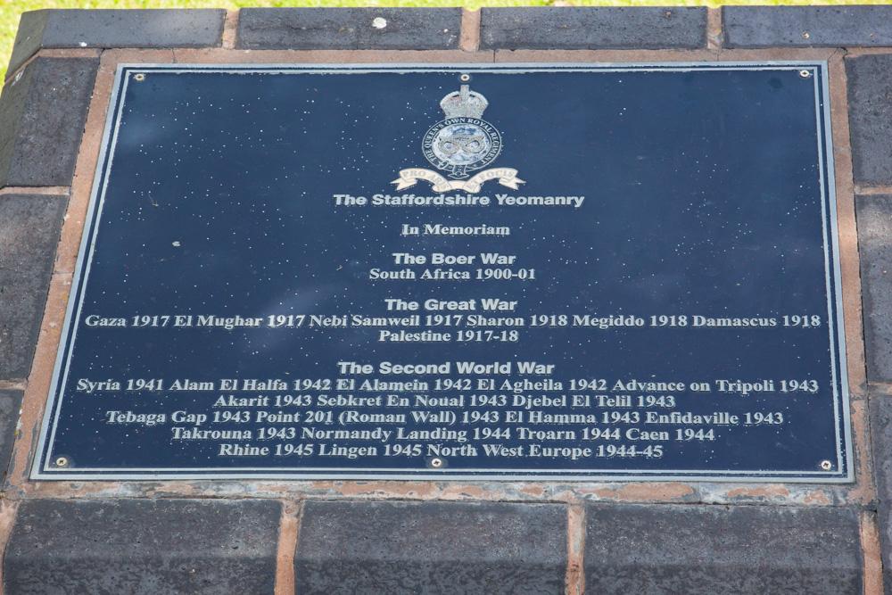 Memorial The Staffordshire Yeomanry