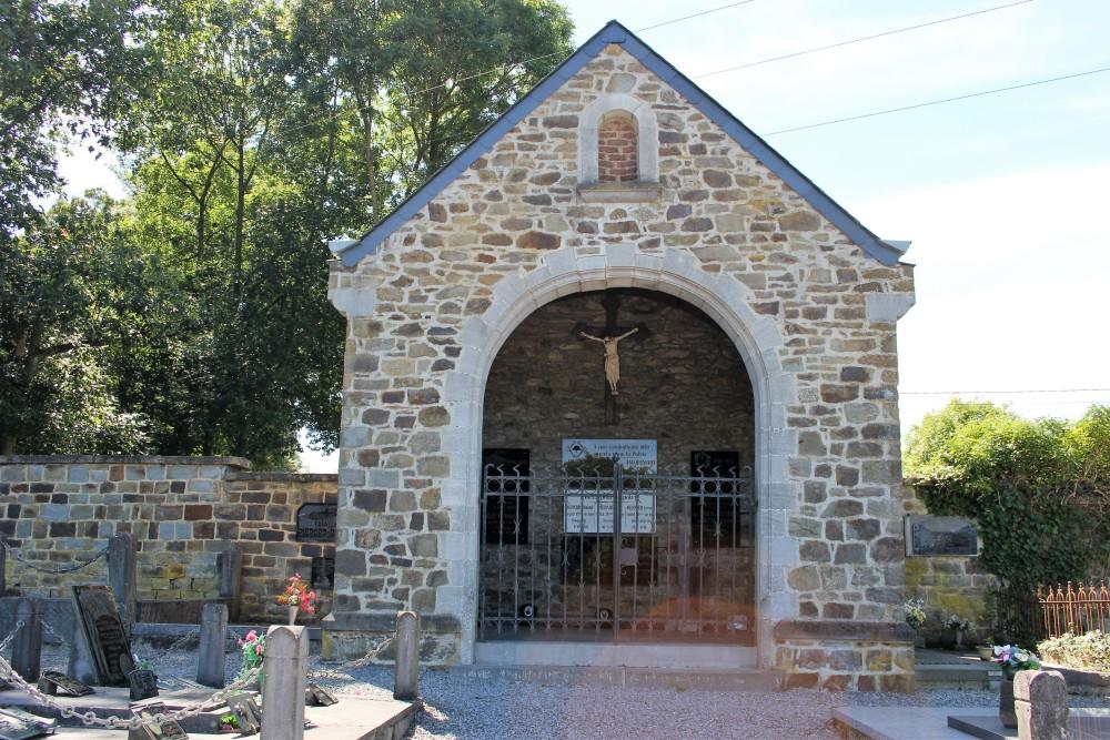 Memorial Chapel & Field Cross Soldier Frans Pirard Cemetery Nassogne