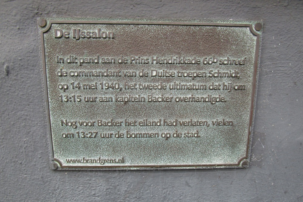 Plaque for capitulation request Rotterdam