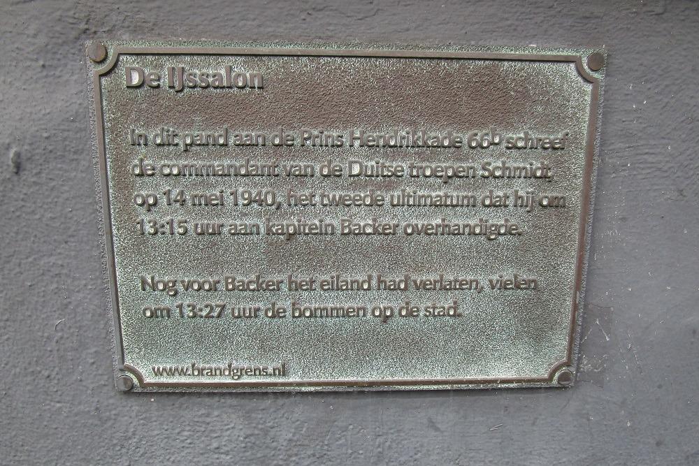 Plaquette capitulatieverzoek Rotterdam