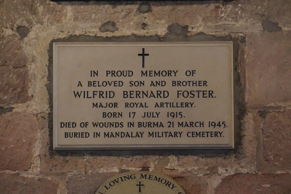 Memorial Major Wilfrid Bernard Foster