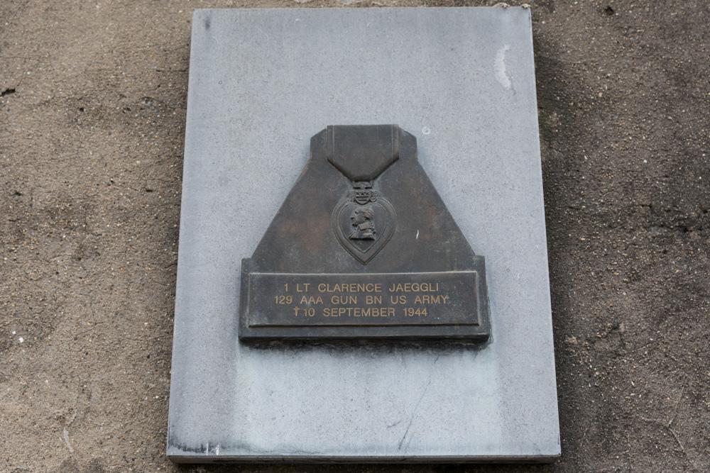 Plaquette Lt Clarence Jaeggli