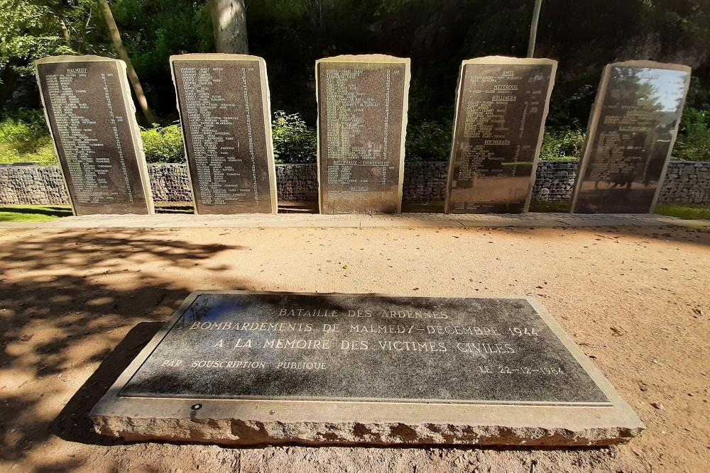 Monument Burgerslachtoffers Bombardement 23-12-1944 Malmedy