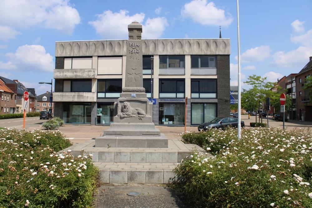 Memorial First World War Paal