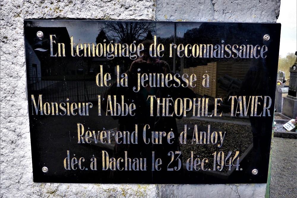 Plaque Abbé Théophile Tavier