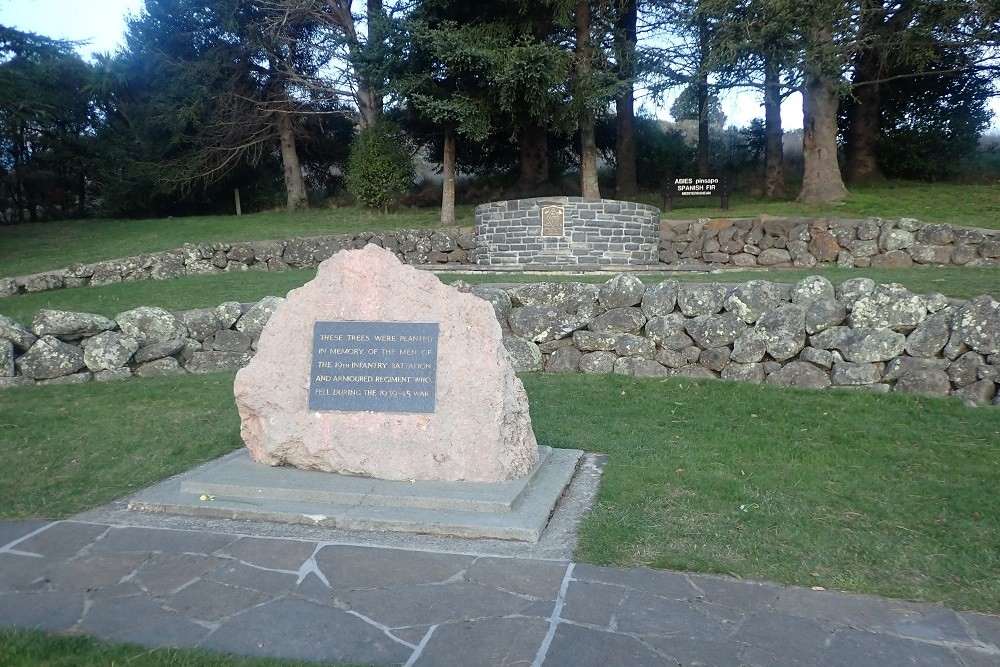 Memorial To The 19th Infantry Battalion And Armoured Regiment
