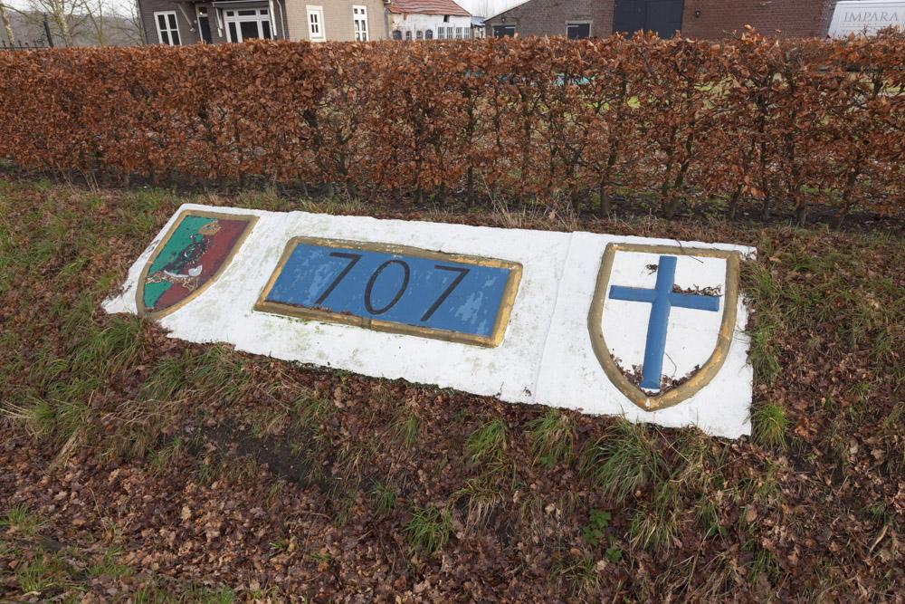 Remembrance Stone 707th Company