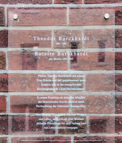 Plaquette Theodor Burckhardt