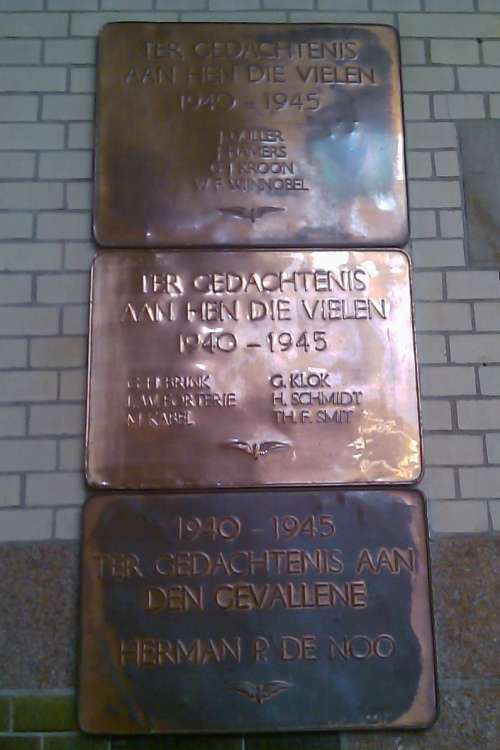 Plaquettes Omgekomen NS-medewerkers Haarlem