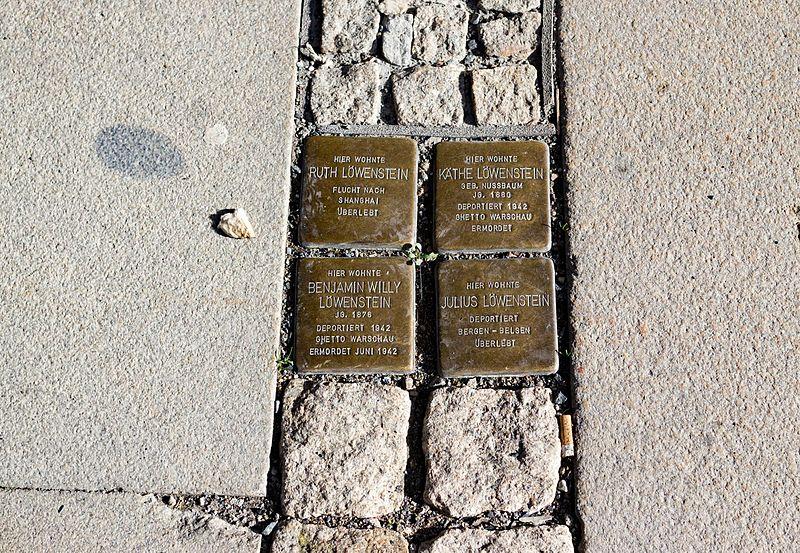 Stumbling Stones Burgstraße 9