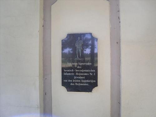 Plaque Bosnian Infantrie-Regiment II