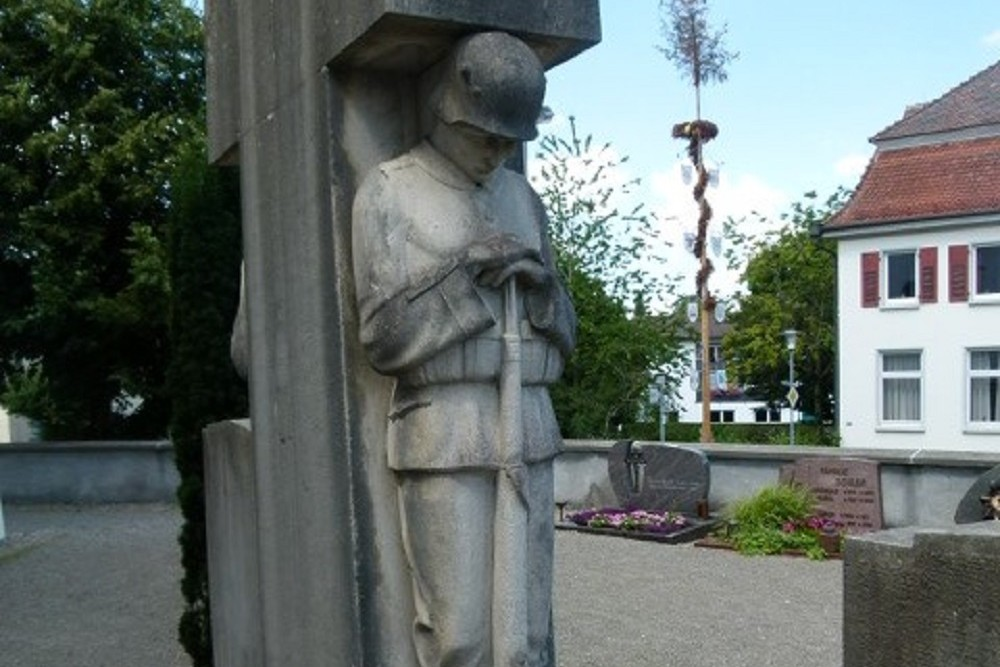 Memorial To Fallen Soldiers In WW I And WWII Roggenzell