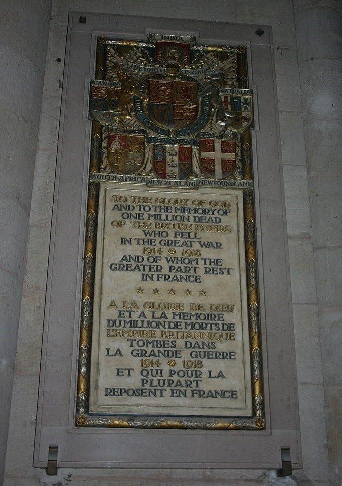 Memorial Dead of the British Empire Le Mans