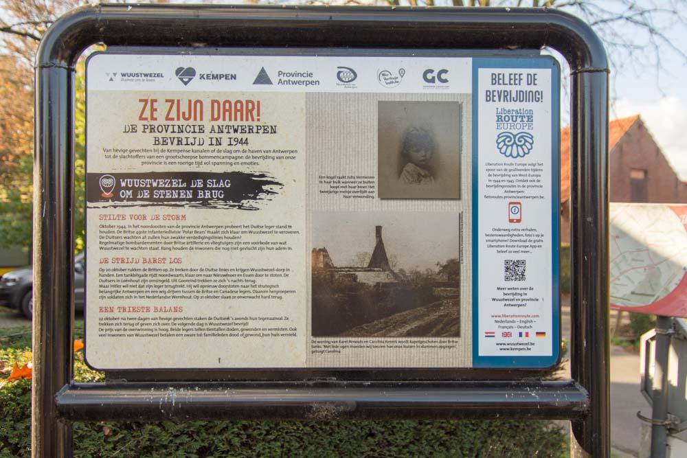 Info board 75 Years Liberation WWII Wuustwezel