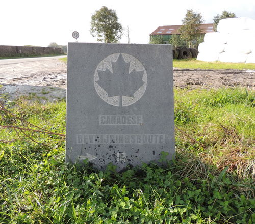 Wegmarkering nr. 14 Canadese Bevrijdingsroute