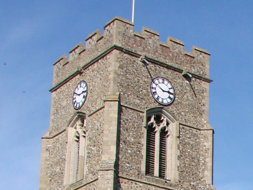 War Memorial Clock Lawshall Church