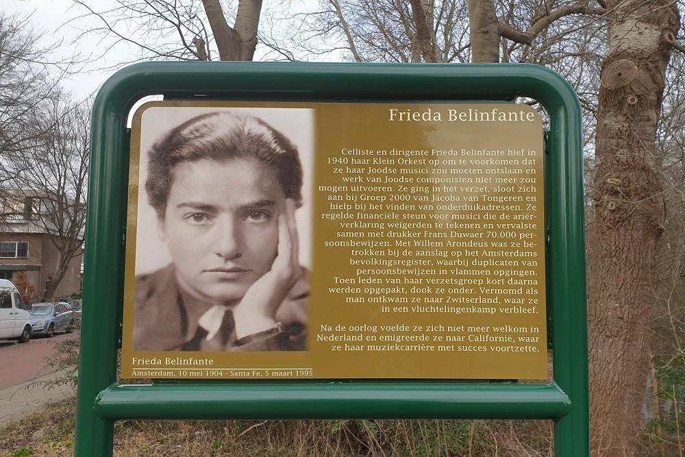 Herdenkingsborden Slotermeer Frieda Belinfantebrug