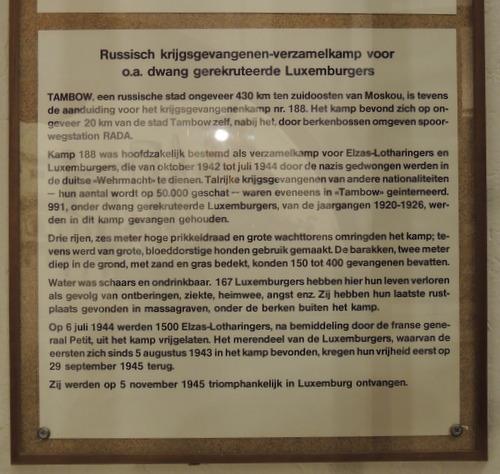 Monument Luxemburgse Krijgsgevangenen