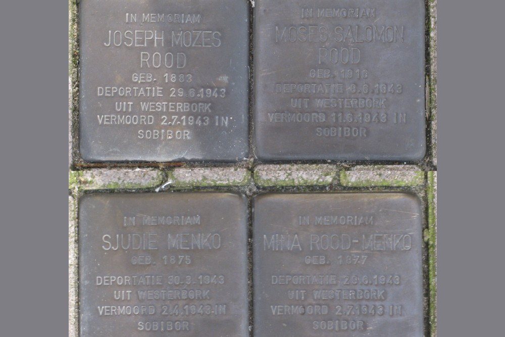 Stolpersteine Nieuwstraat 5 (was Herensingel 74)