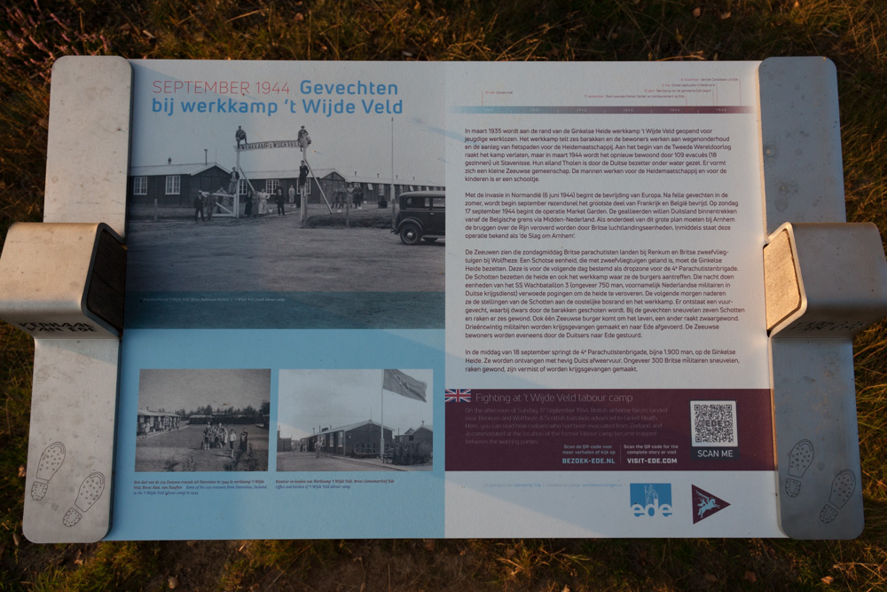 Information Sign Fighting at 't Wijde Veld Labour Camp