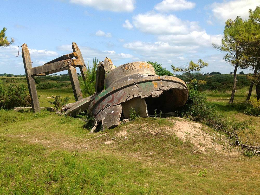 Stützpunkt Va 300 - Remains Atlantikwall Structure