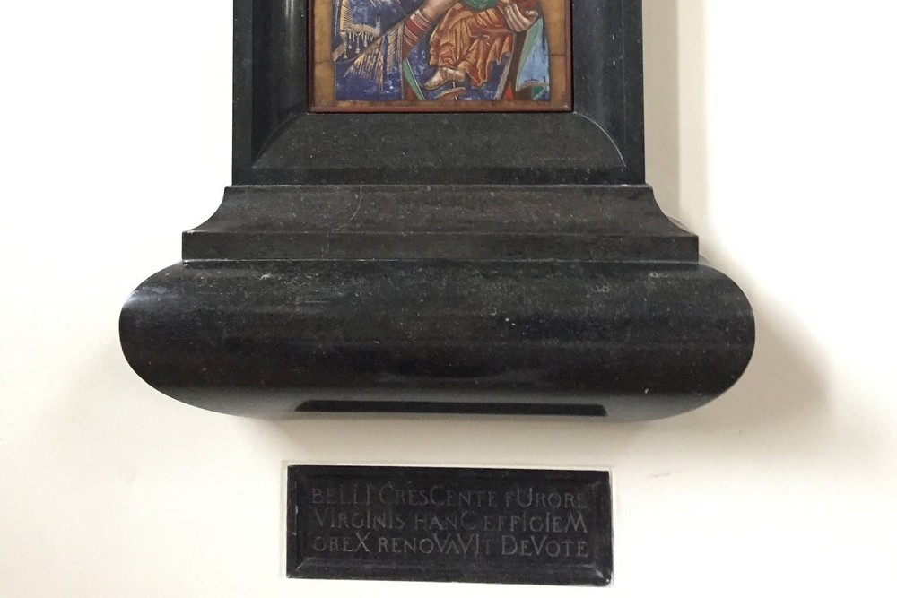 Maria Plaque From 1942 St. Clemens Church Nuenen