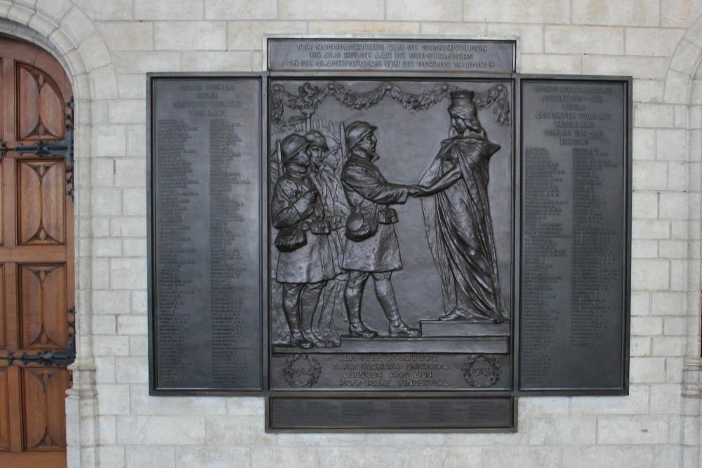 Gedenkplaten Stadhuis Leuven
