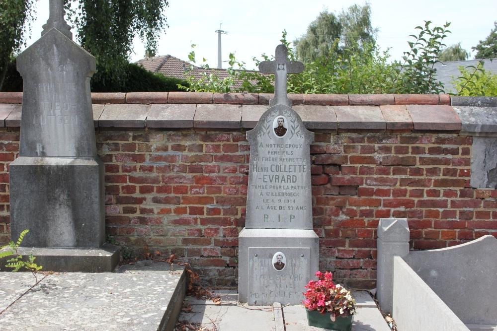 Belgische Oorlogsgraven Verlaine