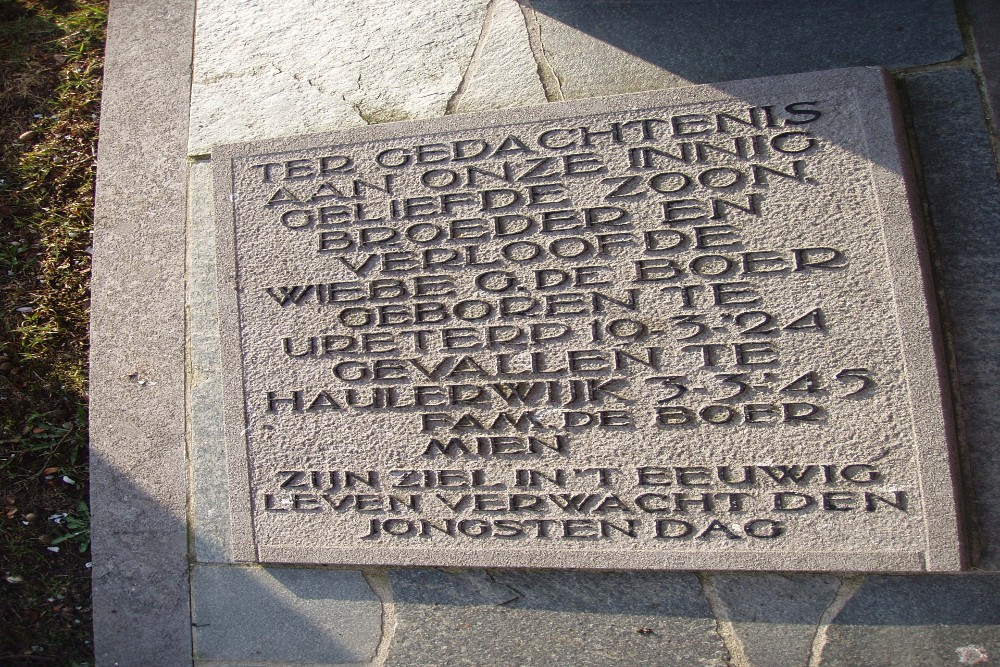 Oorlogsgraven Begraafplaats Eikenhof