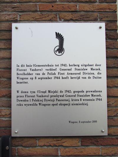 Plaquette Bevrijding Wingene