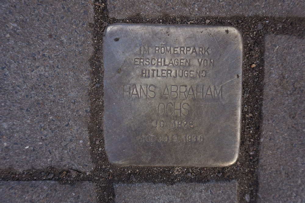 Stolperstein Römerpark