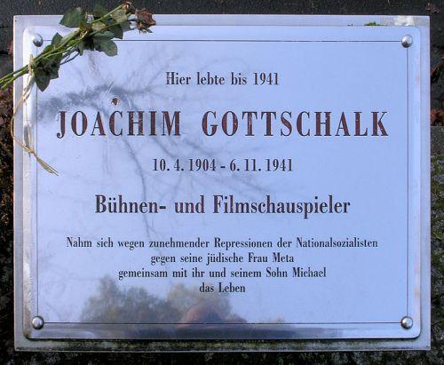 Plaquette Joachim Gottschalk