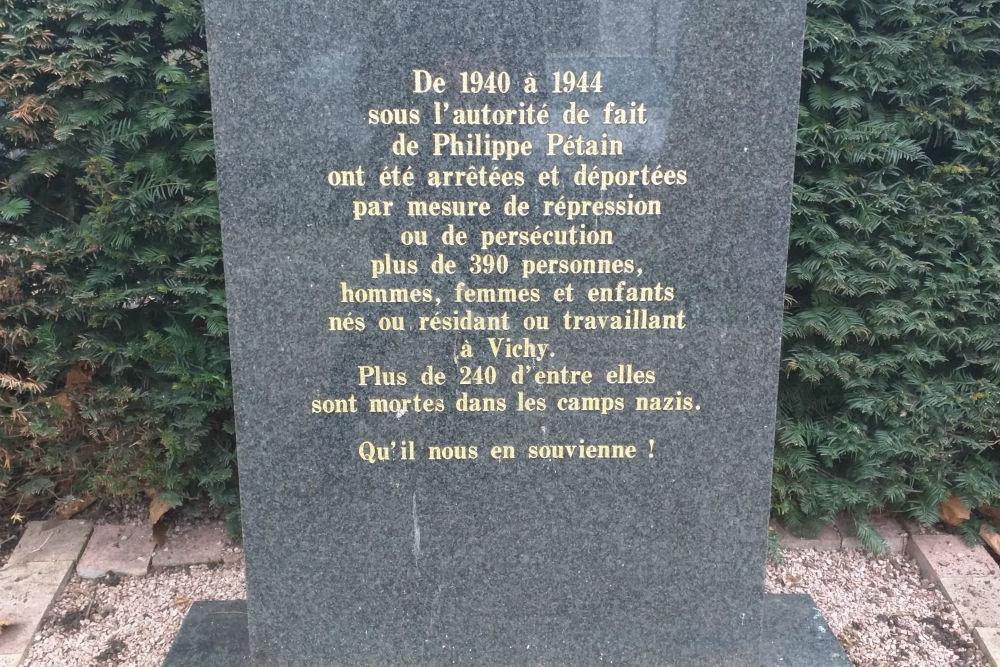 Deportatie Monument Vichy
