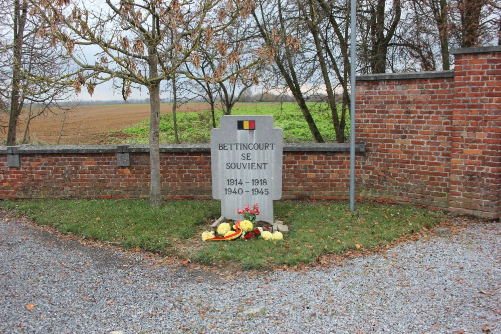 Oorlogsmonument Begraafplaats Bettincourt