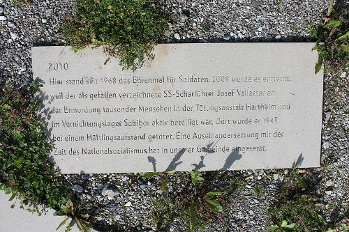Reference to Old War Memorial Silbertal