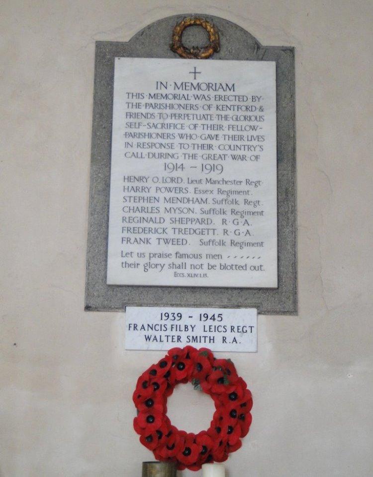 War Memorial Parish of Kentford