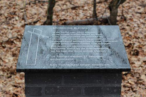 Monument 'Sporen die bleven' Tienray