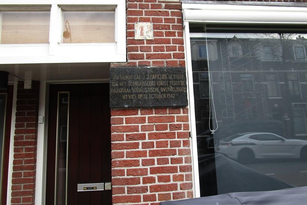 Plaque J.J. Hamelink.