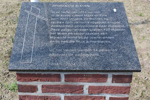 Memorial 'Tracks that were' Veulen
