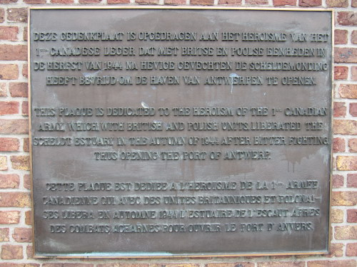 Plaque 1ste Canadian Army